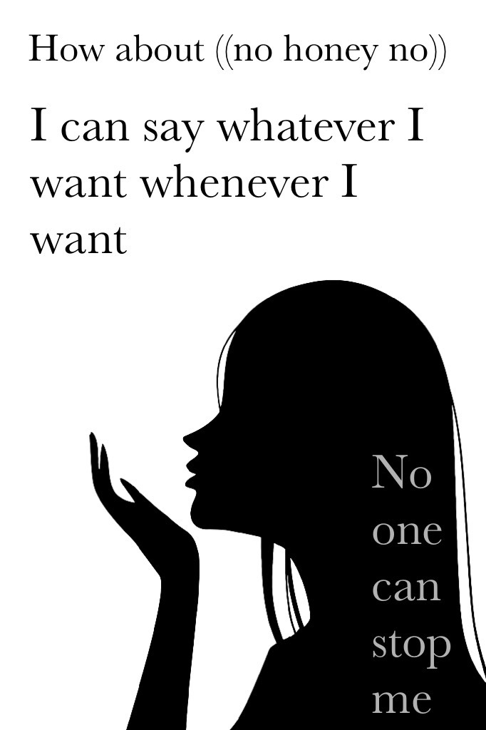 #No can stop me