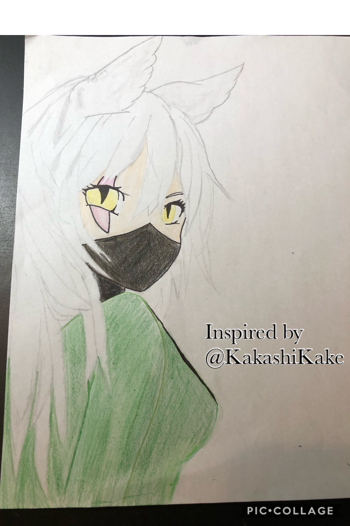 """Inspiration: @KakashiKake Skye does a lot of really, super, extra, cool art!!! """"Recently"""" she made her OC, Zysto, a girl. I got a lot of stuff done today, so I took the time to relax and drawww"""