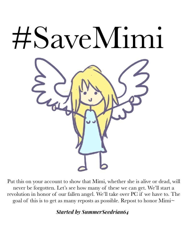 #SaveMimi  please repost this, for her.