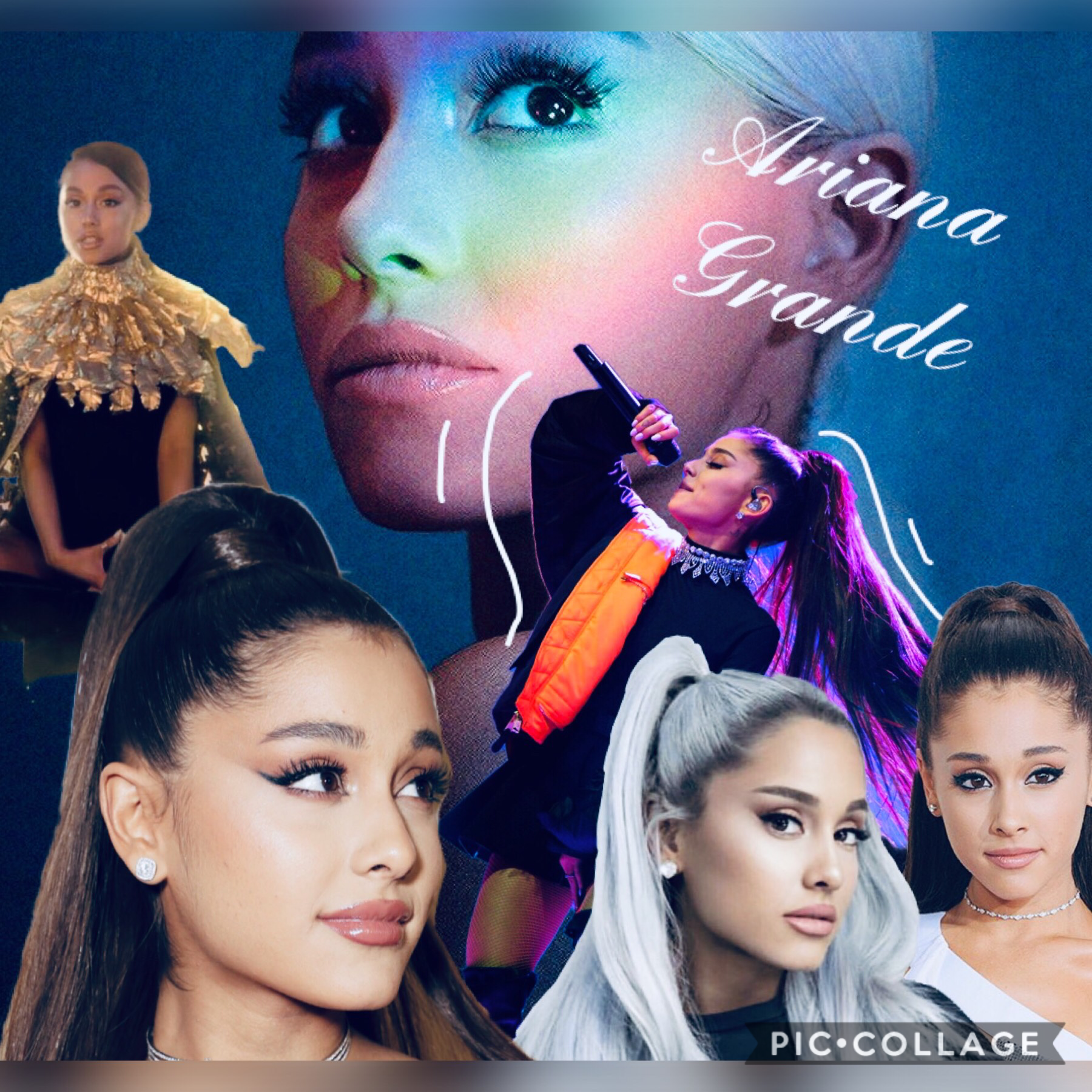 🖤 TAP 🖤  I'm so sorry to all my followers for not posting collages in such a long time. I moved, was busy with school work and wanted to take a break from it. Here is an Ariana Grande's Collage for all arianators.