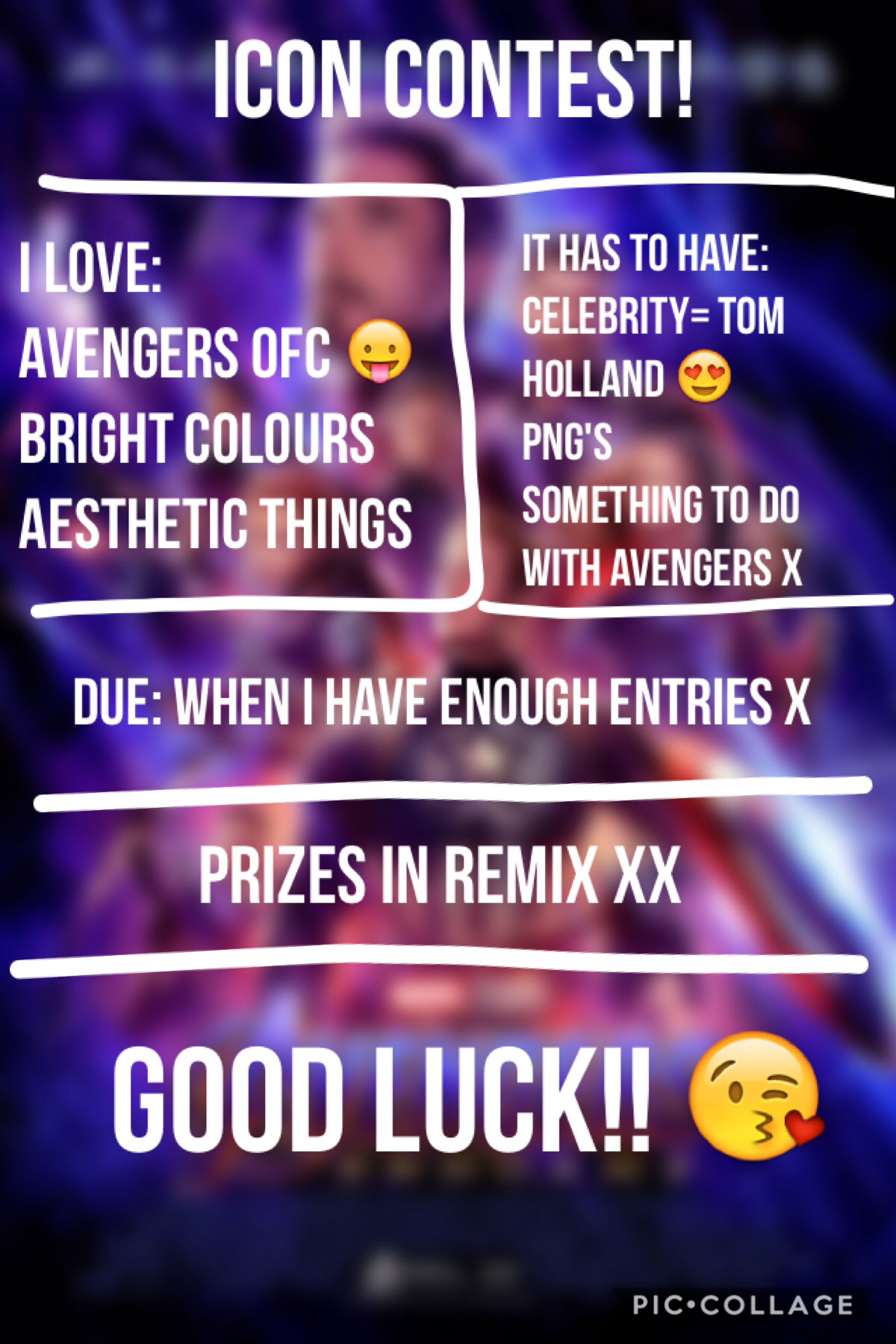 I hope I can get lots of entries x 😘