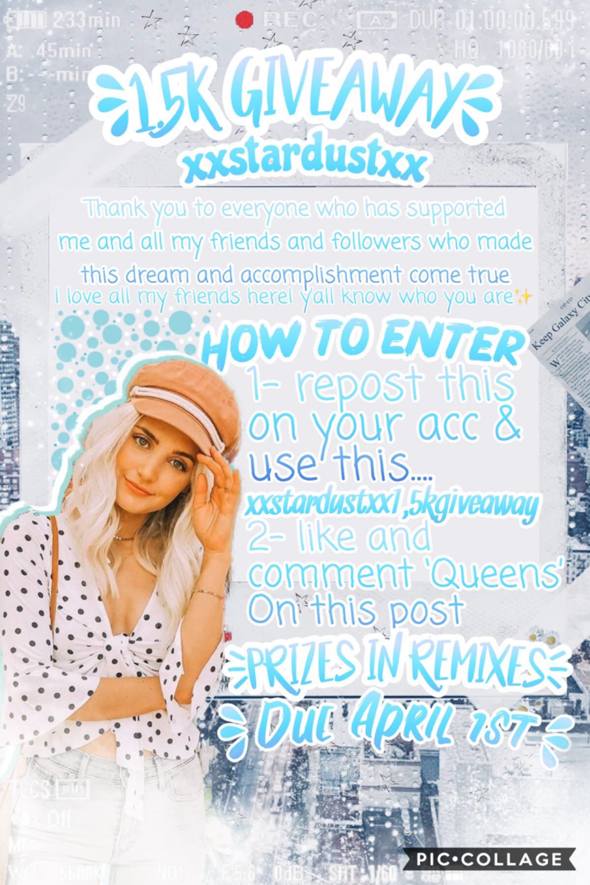 xXStarDustXx1.5kgiveaway! 💫 💙 🙌🏻 The puppies are doing pretty well, their nicknames are Leaky Luke and Stubby Dubby. 😂 🐶 🧻 My grandparents gave me their older TV so I can watch movies in my room, I just have to set it up and stuff soon. 🙃 📺 📀