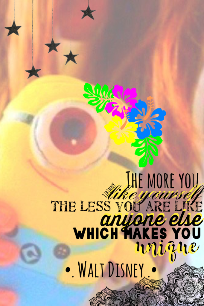 Tap me :)  I really love this collage I made. I love minions, Disney, and uniqueness ;)