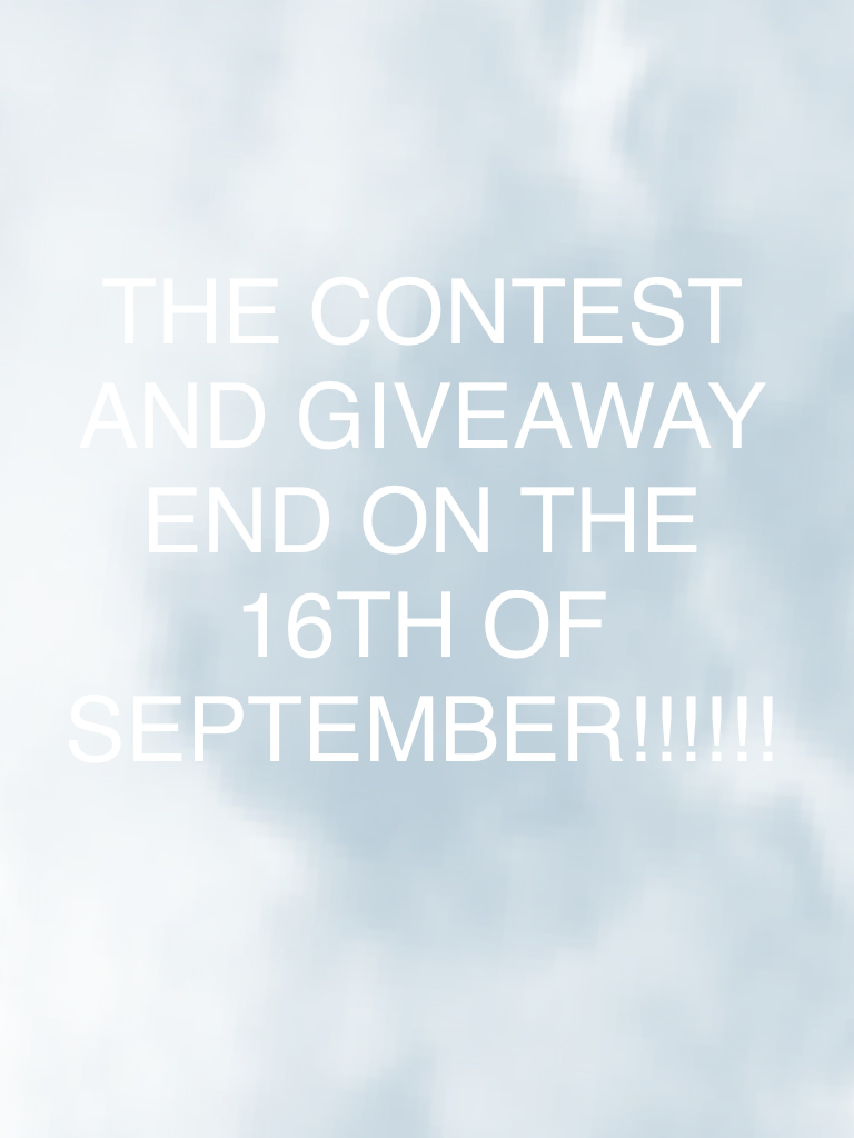 Just letting you know!! Don't forget to enter!! //Mackenzie