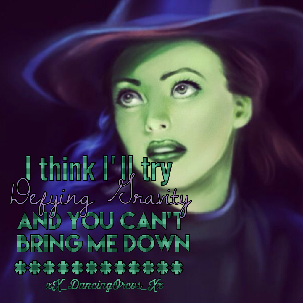 It's Wicked Wednesday! Get it? It's from the musical wicked! I probably seem lame right now but it's a really good musical! Ly all x