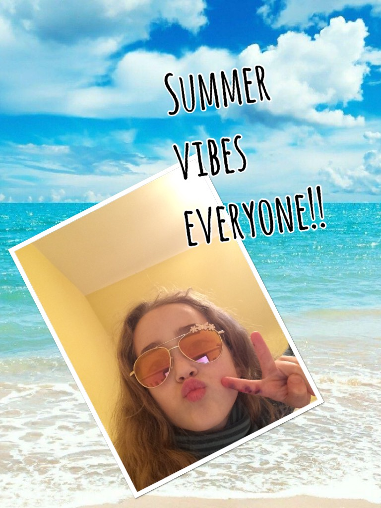 I know it's not summer still!! And my sunglasses are so cute!!