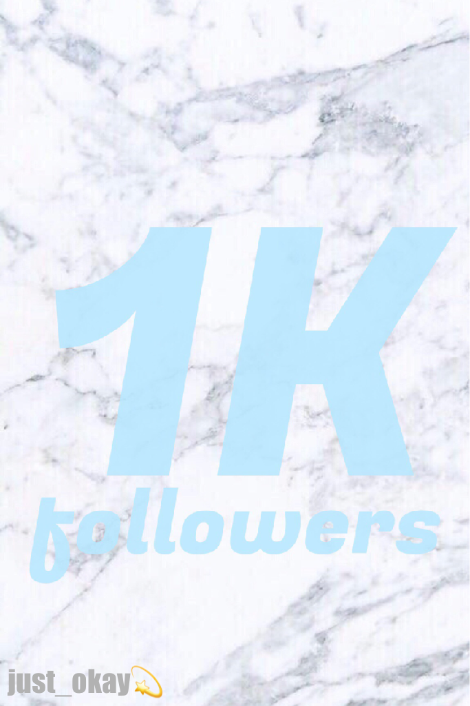 😱😱i can't believe it💫1k followers🎉thank you soooo much🌹😊