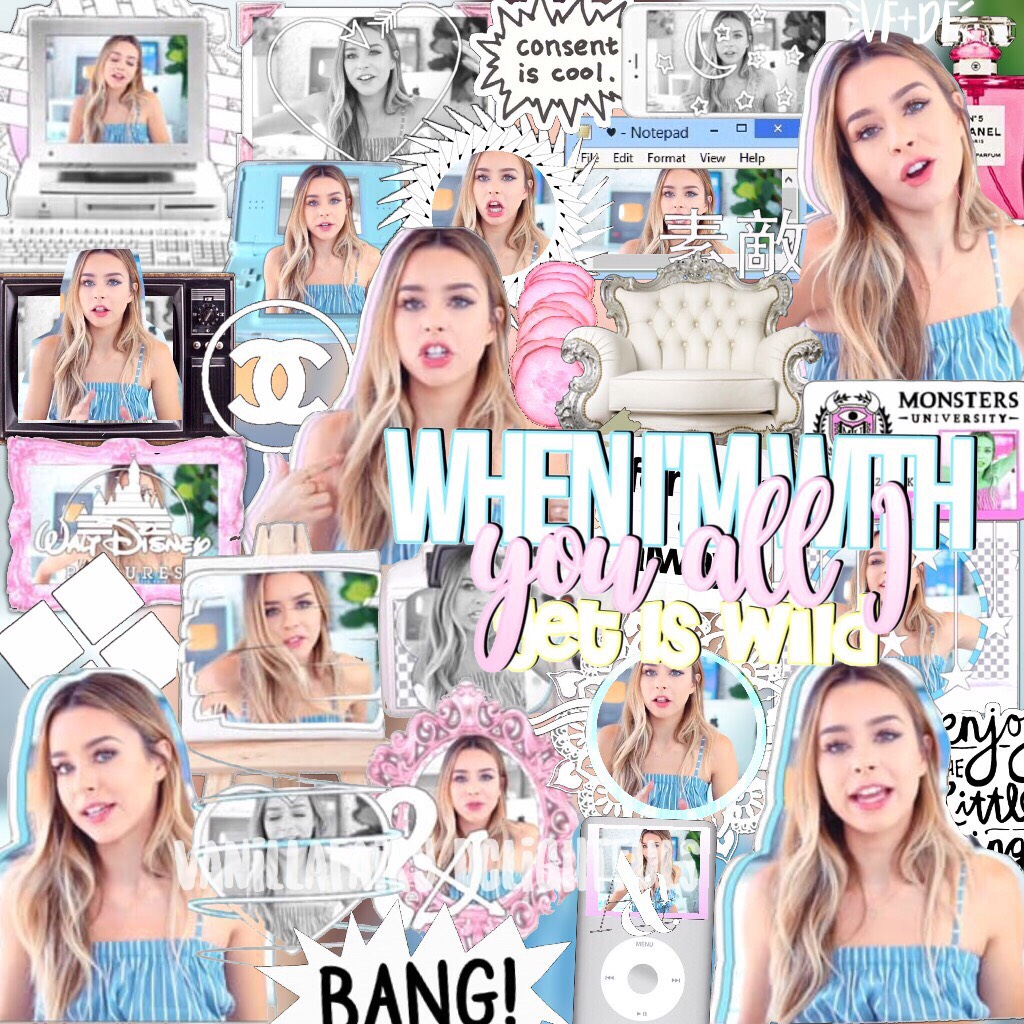 🙌🏼CLICKERSS 🌺hii! So I tried this new style that basically everyone is doing😂 😽CREDS TO @ebediting for the premades+text:) 🏹also I just love how the quality flopped on this:/😂