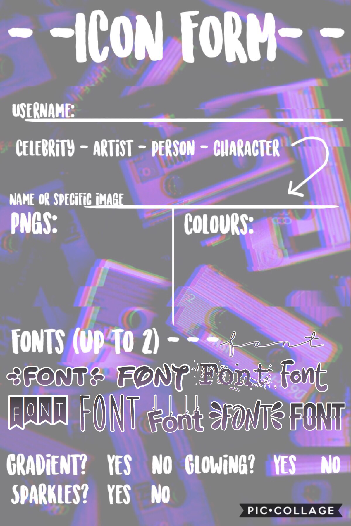 ⚪️🔘TAP🔘⚪️ ICON FORM Just fill it out and I'll make it as soon as possible!
