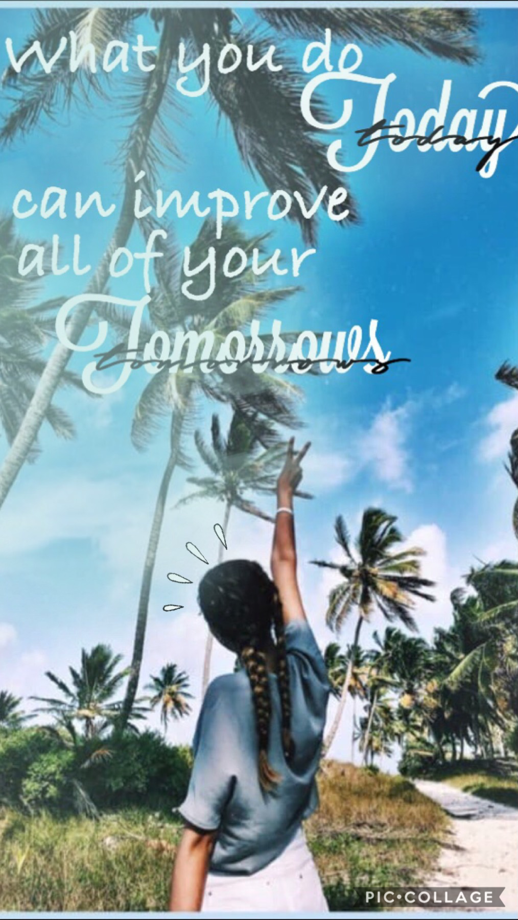 💕TAP💕 Something simple I came up with. Background credit _summervibes_ QOTD: When does school get out for you AOTD: May 15th