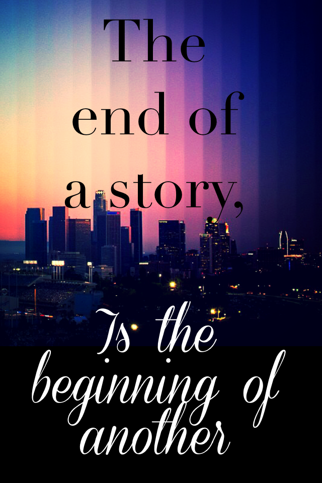The end, the beginning.