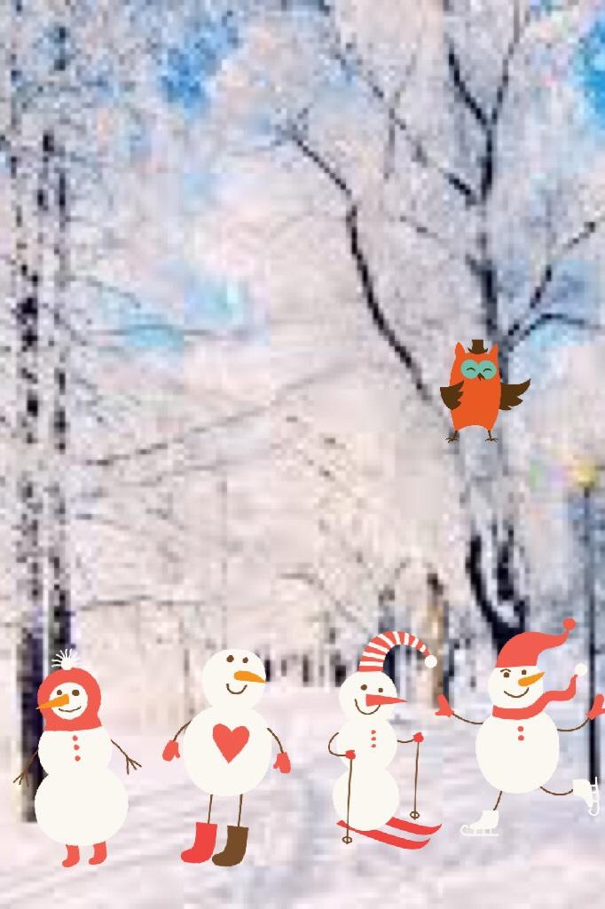 Snowman winter wonderland