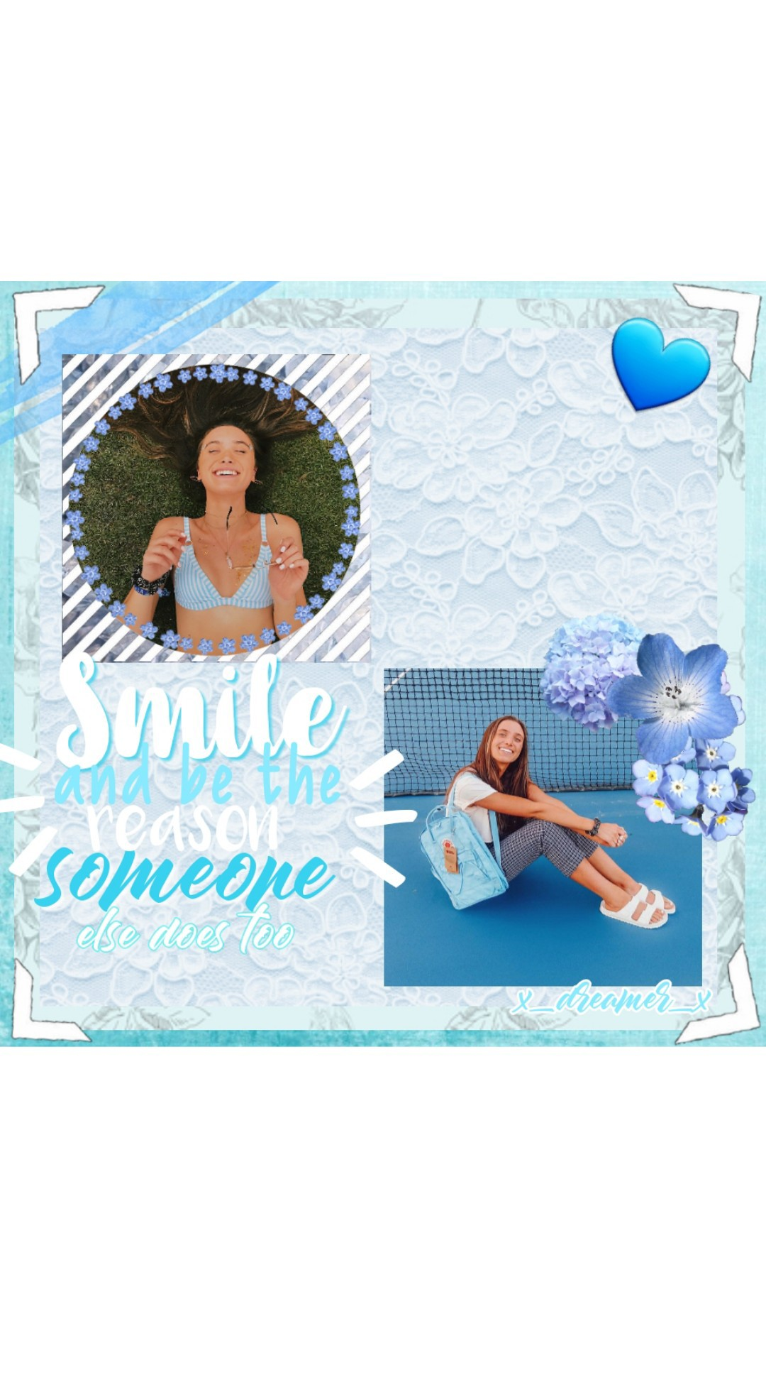 💙tap💙 hey guys !!! smile and be the reason someone else does too 🐳 and thank you so much for 1,000 followers you guys are amazing! 💙💎🐳🍬☁️🌊❄💧