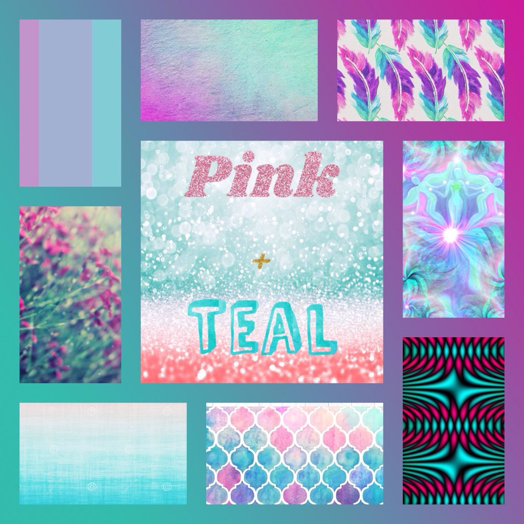 Turquise and pink