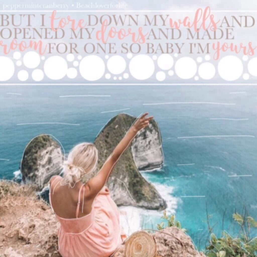 🌸tappy!🌸 hey loves!! Collab with the amazing Beachloverforlife !! I did the text and she did the pic. I love this so much and I hope y'all will too.  How are you guys doing?? Let's chat in the comments haha sotd: I'm Yours by Alessia Cara 🌸xoxo, claireeee