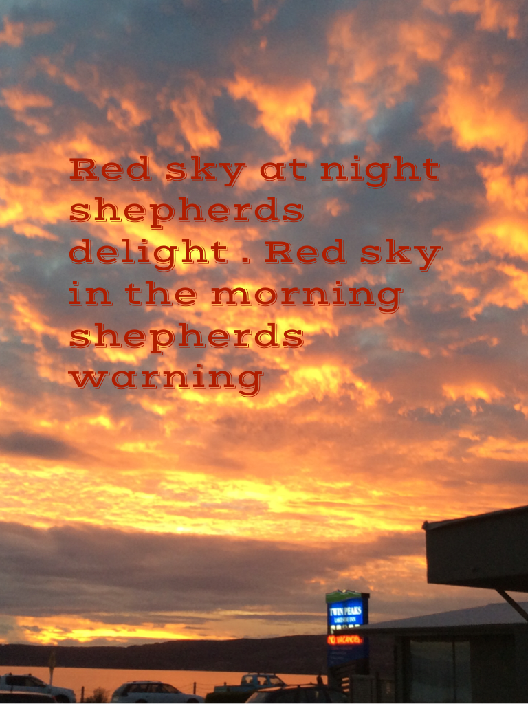 Is Red Sky At Night Sailors Delightred Sky In Morning - HD 768×1024