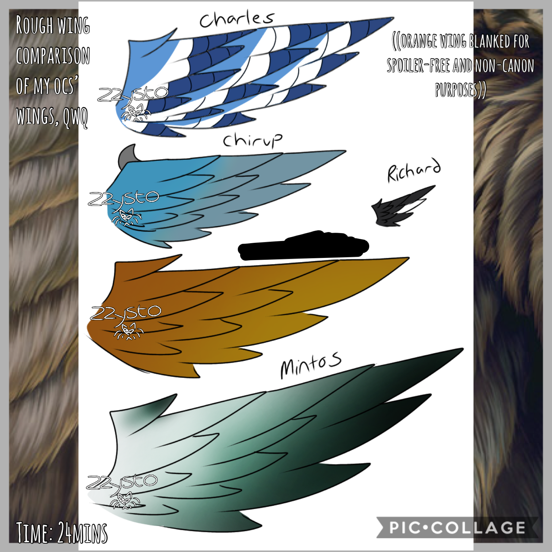 🦅Tap🦅 I've had an obsession with drawing wings recently,, qwq Oh, I finally finished writing up my original harpy species profile..! If y'all are interested, I'll post it tomorrow when I have time (it's uh long, oops) How have y'all been too? I feel like