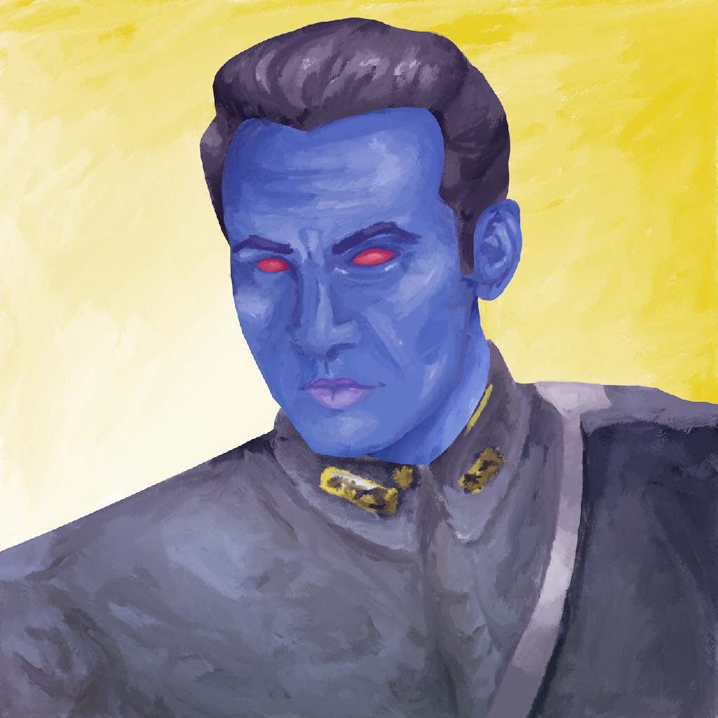 Some coloring practice I did with Thrawn