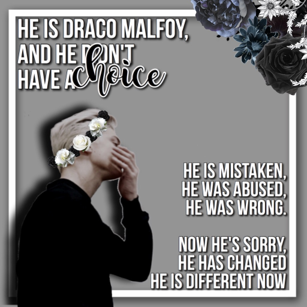""""""""""""""" tap yas mah pineapples """""""""""" ... yas the flower crown whoop ... ,,, these are my thought on Draco, if you disagree please don't argue in the comments or anything. Different views are great but arguing? Not so much ,,,"""