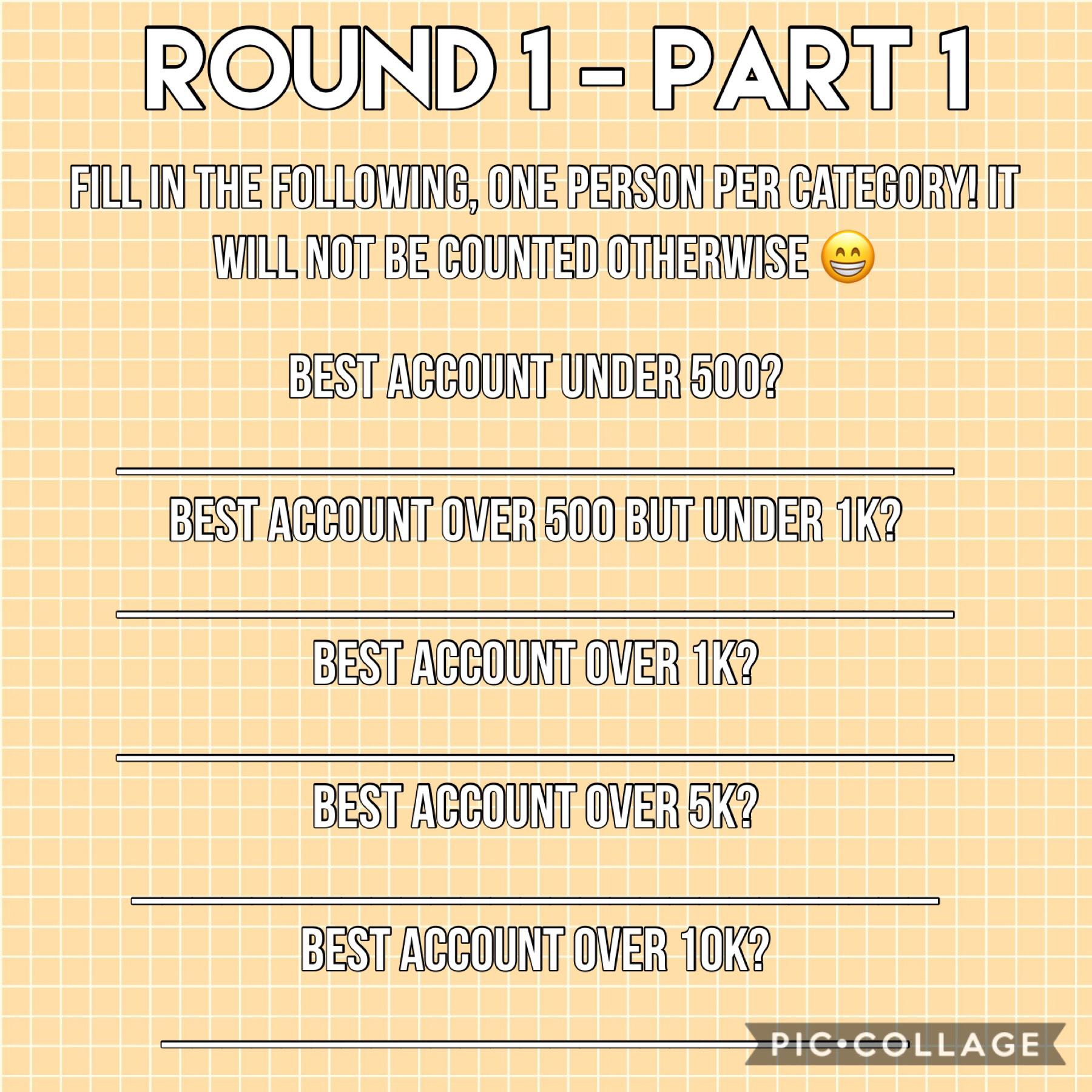 Round 1 - Part 1