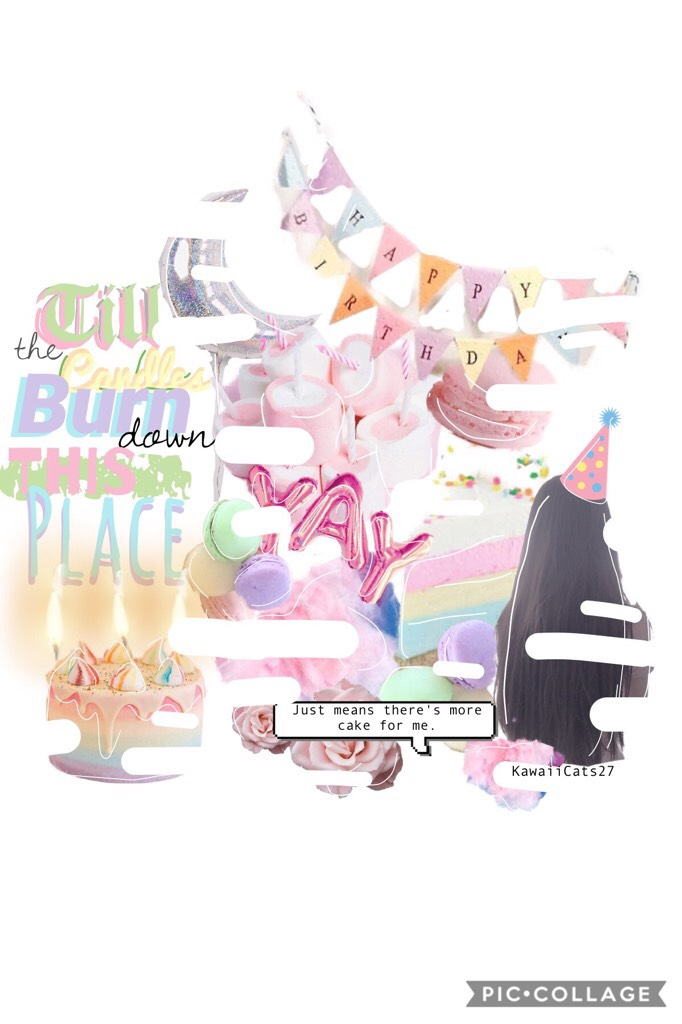 Happy Birthday To Meee!! .... Btw the girl in the collage is me!!! 😉💕GUESS WHAT I have an insta, called l0v3ly_l1nds3y  (and uhh name reveal, my names Lindsey)!  Tags: pconly, PicCollage, Complex edit, Leila101, Birthday, Scraps, pastel, cake, MelanieMart