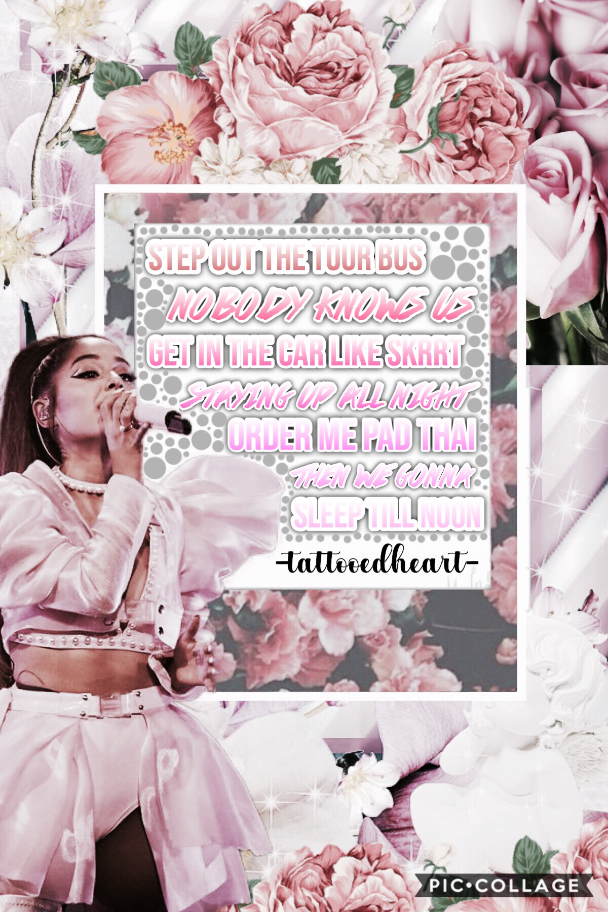 "💖Tap💖 Lyrics from the song ""Imagine""! The Sweetener/Thank U Next tour kicked off in Albany two nights ago (March 18th) and it was amazing! I'm going to the concert in April! Can't wait!!!"