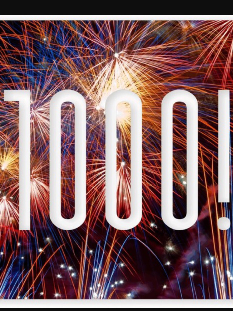 I just hit 1,000 followers!!!!!!!!!!!!!!!!!!!!!