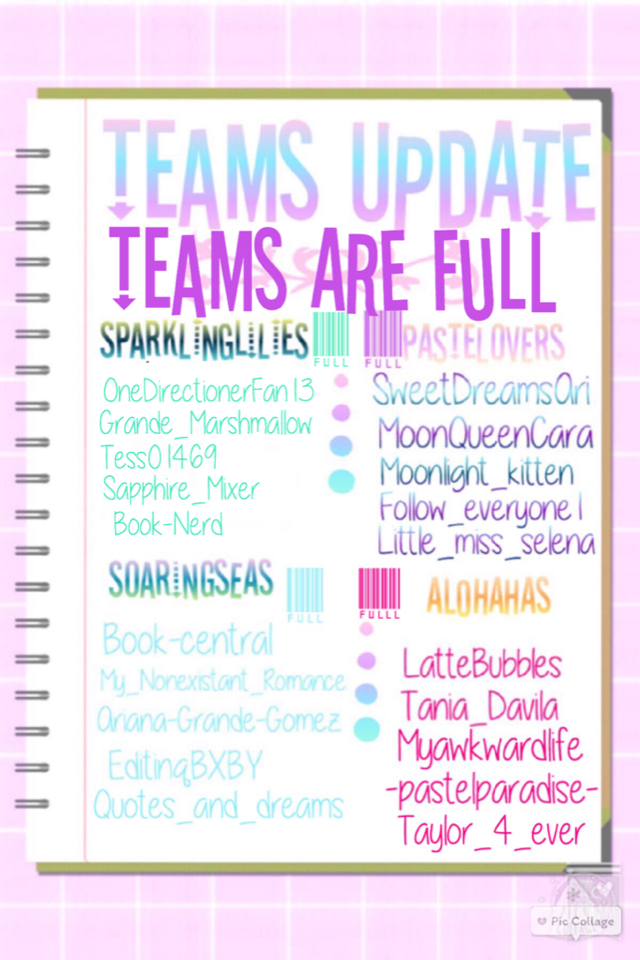 TEAMS ARE FULL prizes and first round coming soon💎✨👌👌