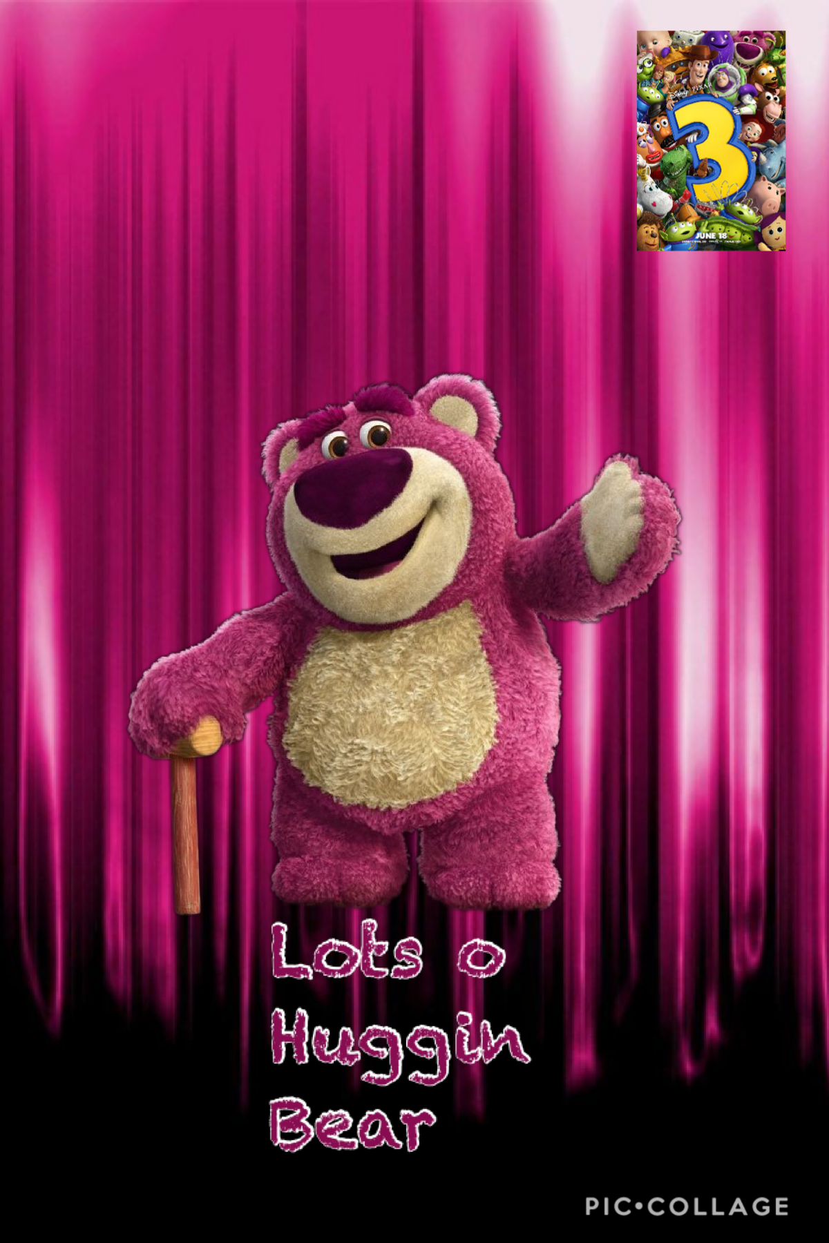 Today's Disney character of the day is lots o hugging bear
