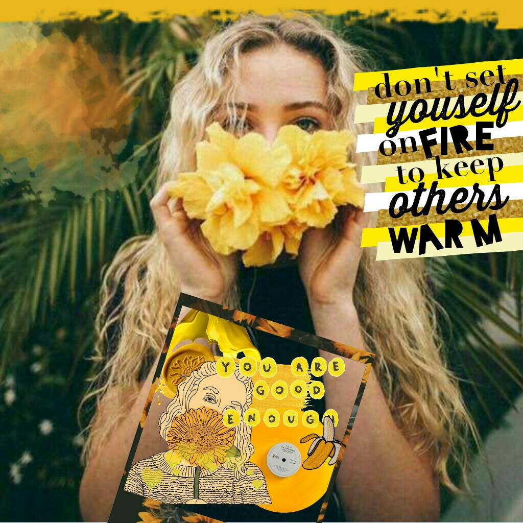 """🌻tap for yellow fruit🌻 🍋🍌<- can we get this to 30 likes? this collage is dedicated to my mom because she said that somebody told her """"their crisis isn't your emergency"""" and this quote reminded me of that. also my grandma calls her sunshine. QOTD: favorite"""