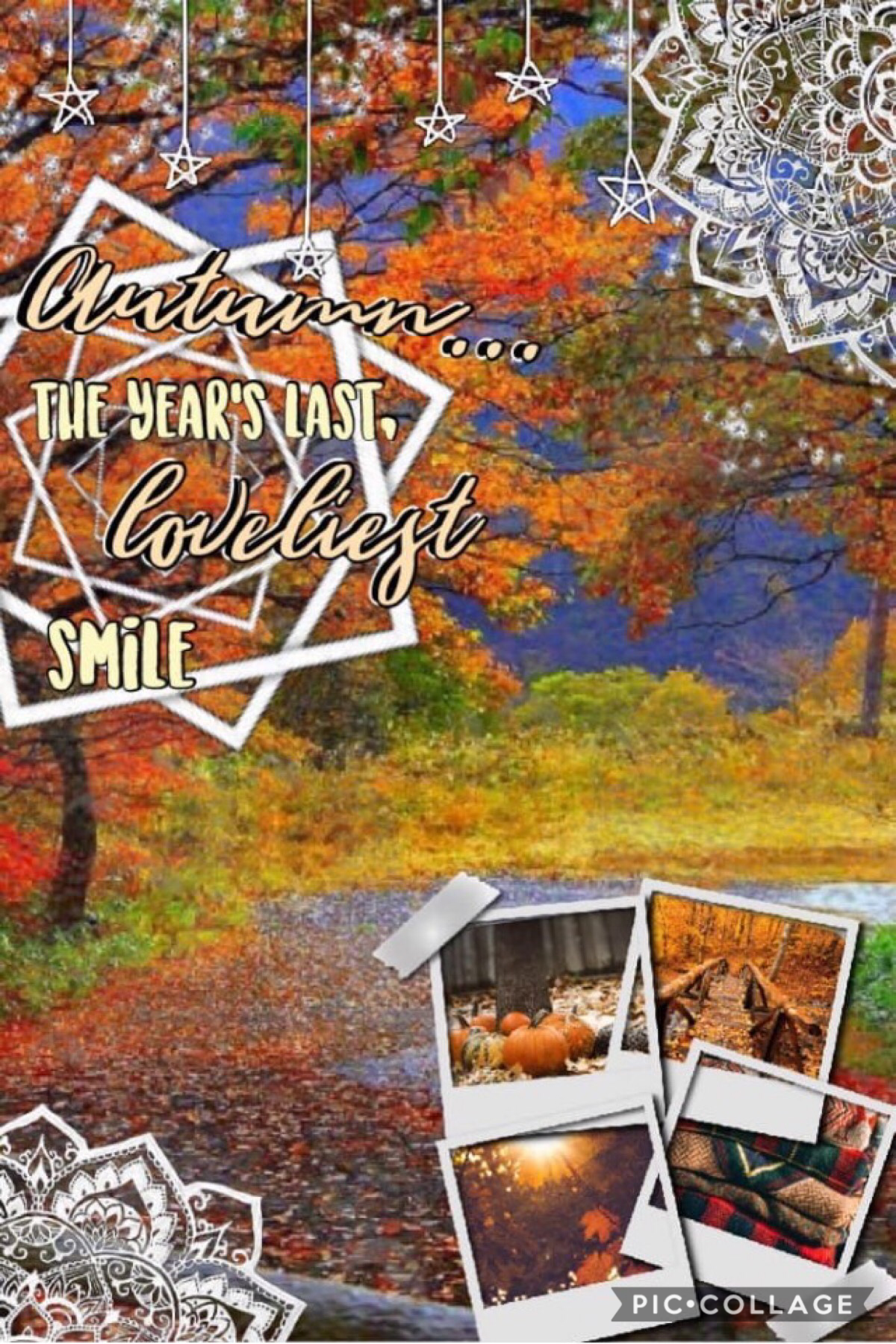 Collab with DeepDreamers! 🍂🍁I did text, she did background, and we both did pngs!😊Please go follow this amazing user! She's soo nice, organized, and talented! I love fall! QOTD:fave fall scent AOTD:apple cider or cinnamon sweet pumpkin 🎃
