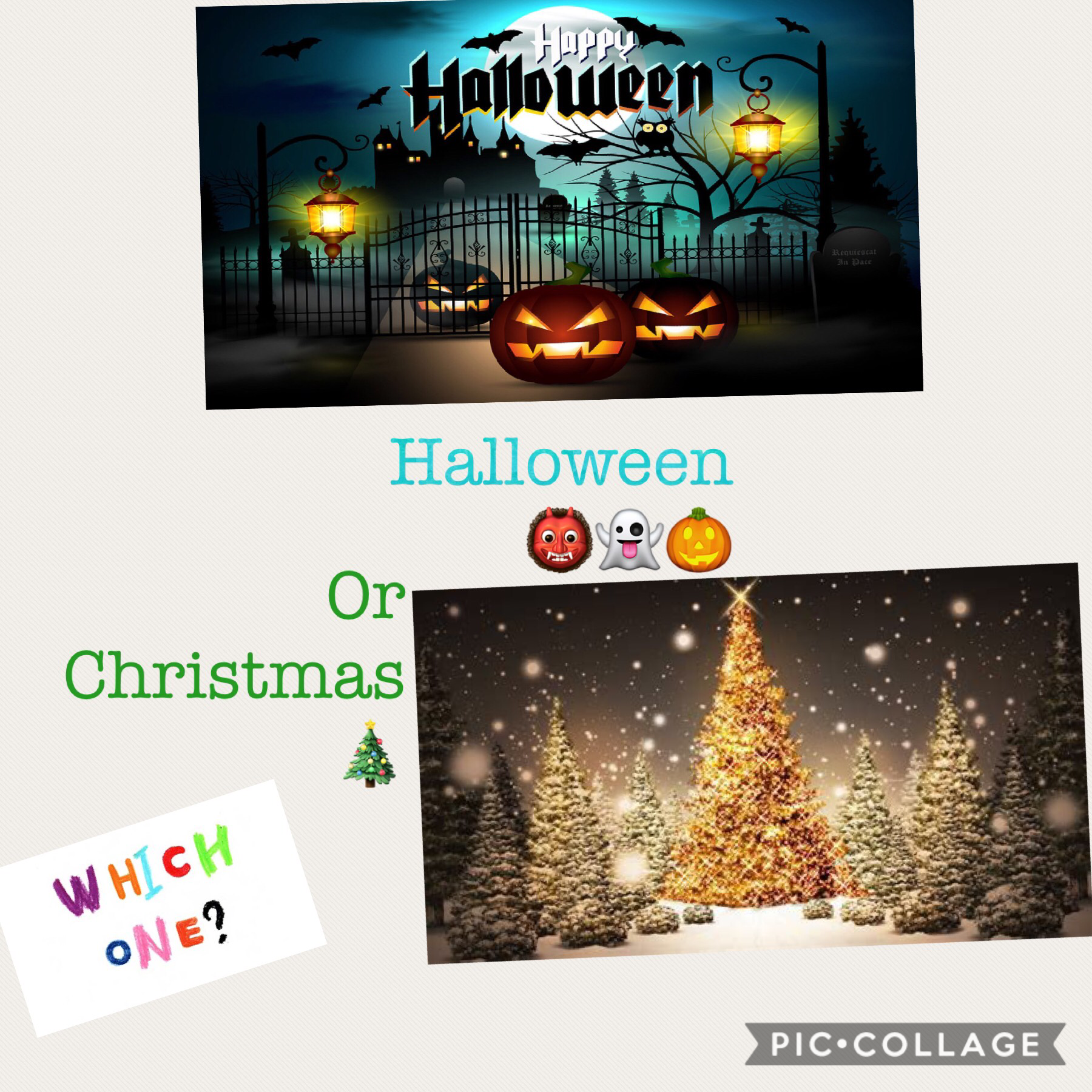 Which one Halloween or Christmas