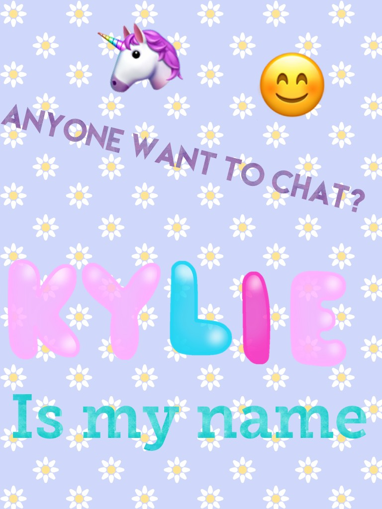 Anyone want to chat?