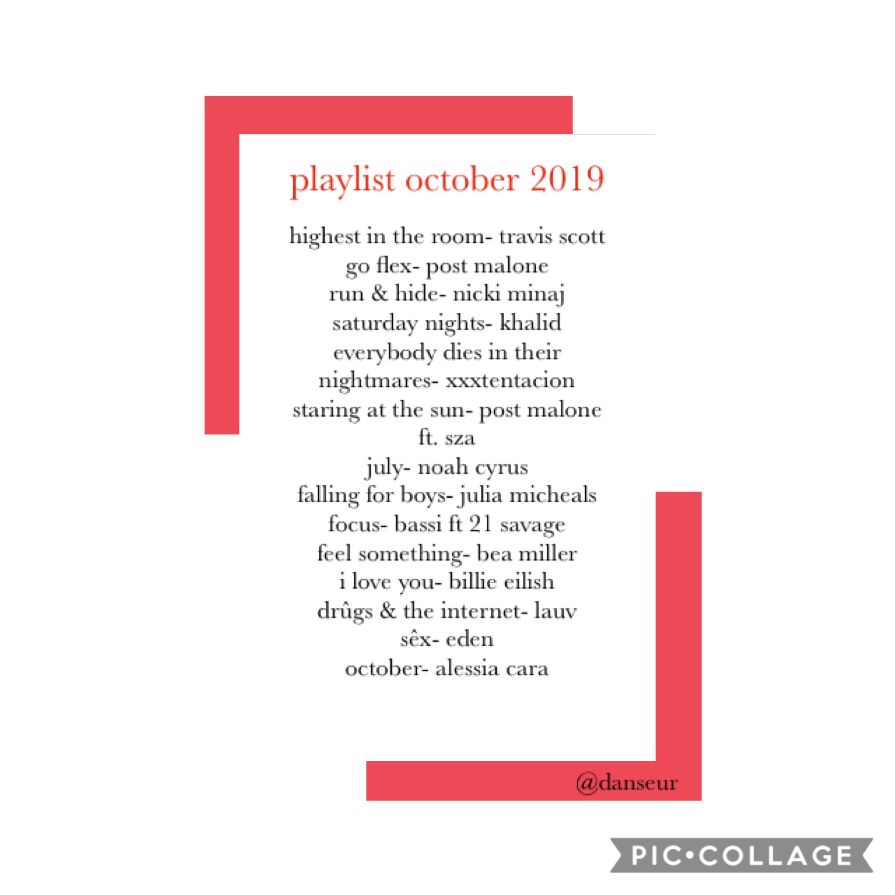 ❤️tap❤️ current playlist. drop some songs below and check these out too!💕 qotd: favourite song? atm and all time? aotd: atm: july- noah cyrus, all time: what a wonderful world- louis armstrong -danseur   [11/10/19]