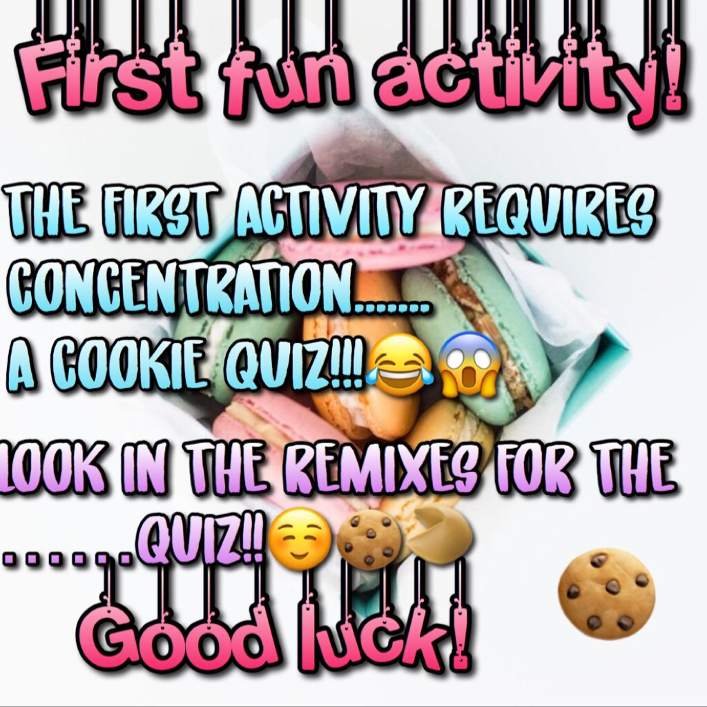 LOOK IN THE REMIXES FOR A FUN, EASY QUIZ!!!☺️🥠