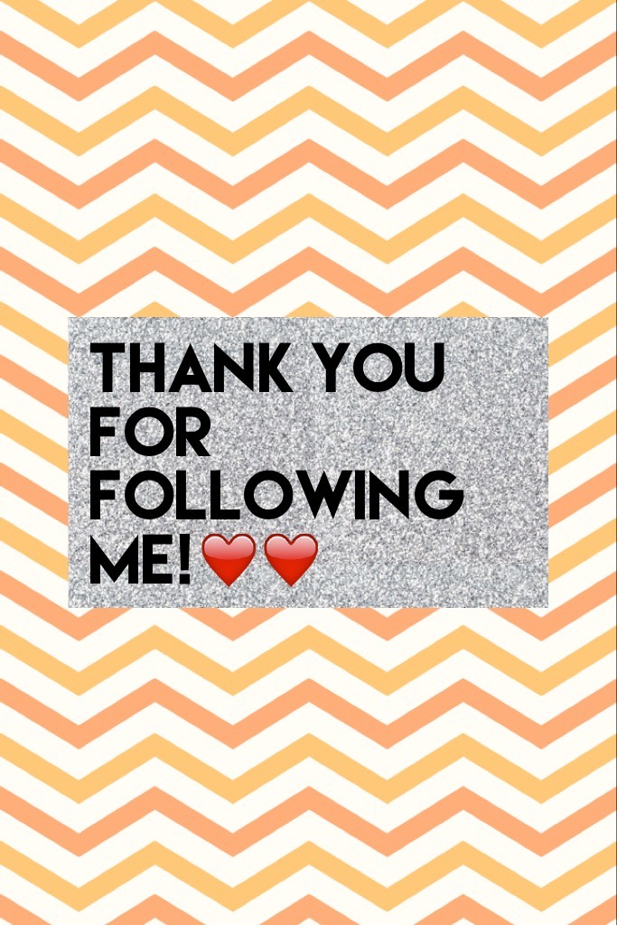 Thank you for following me!❤️❤️