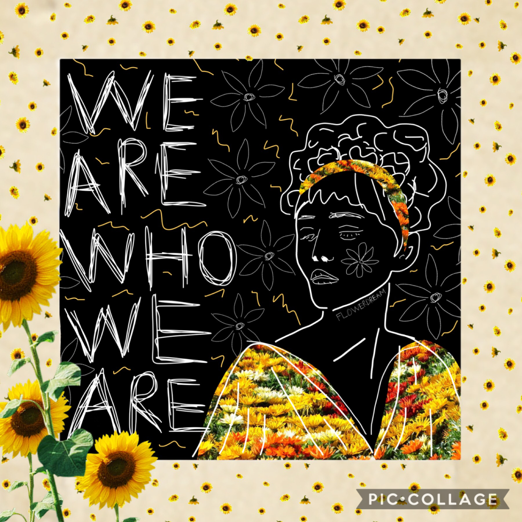 🌿🌻This collage is inspired by delartista. She has wonderful collages and you should go follow her! Her style is super unique. Also yes, that is Grace VanderWaal in the picture. If you don't know who she is, you should definitely go and listen to her music