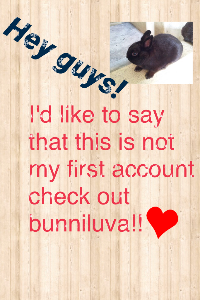Sorry this is a bad collage but I'm just letting you know about my first account❤️