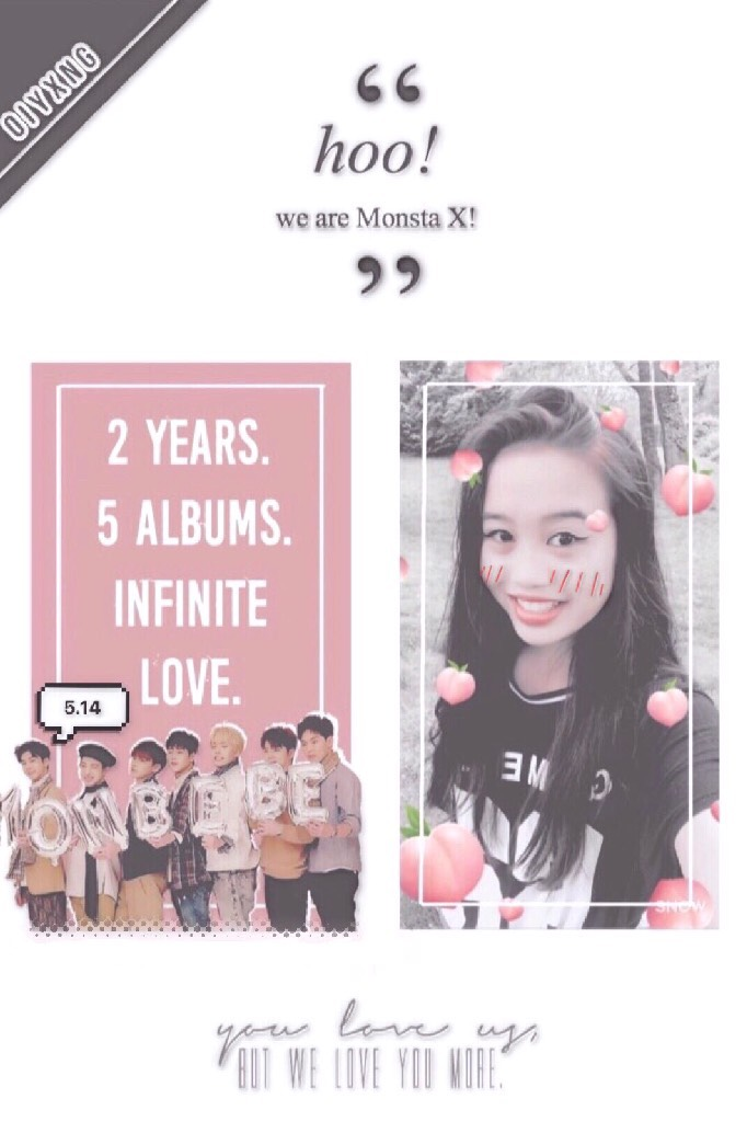 happy 2nd anniversary monsta x! my love for you is greater than kihyun's ego and i rlly hope you boys rest well and eat well and enjoy yourselves💖   ;; btw, my twt user is @oiyxng