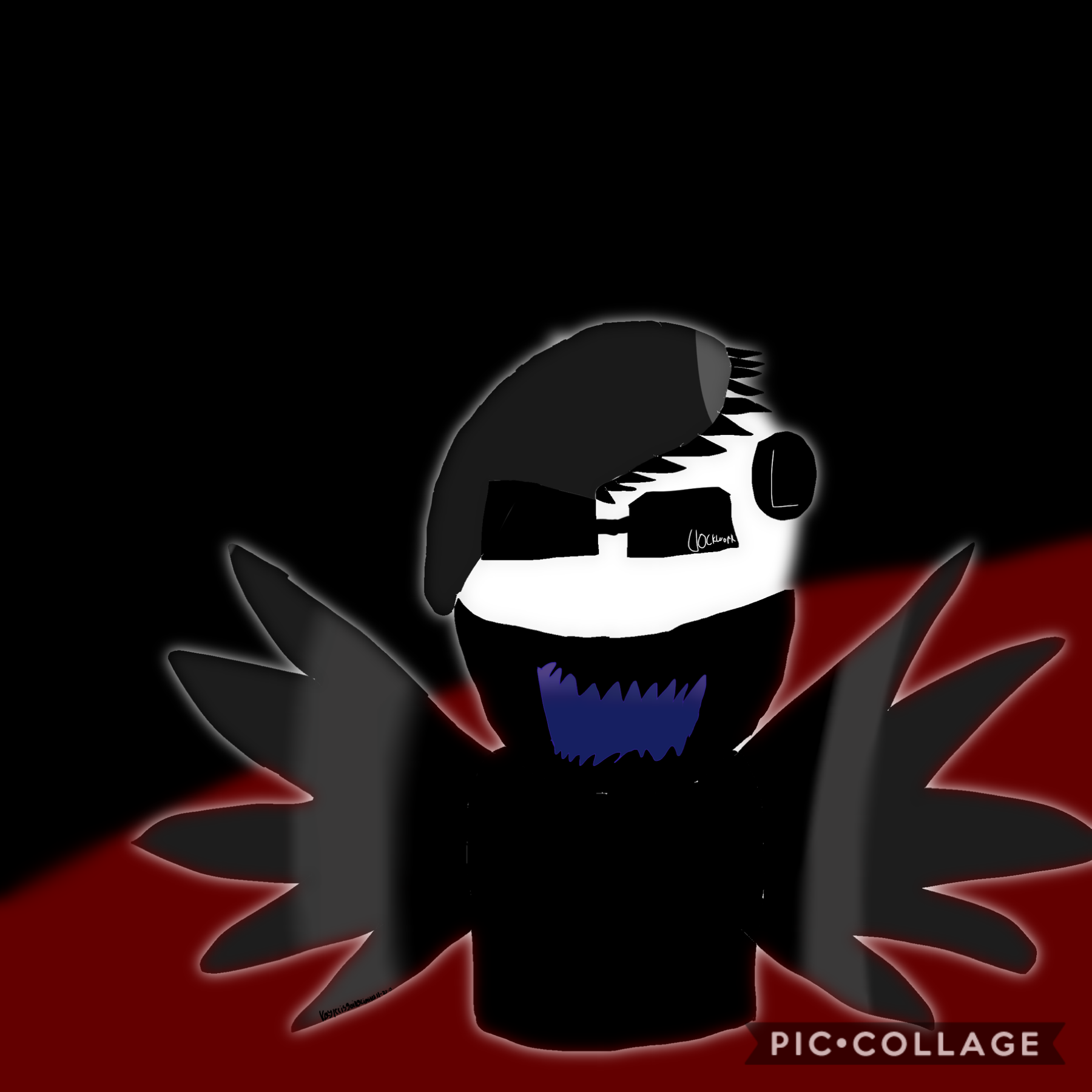 Tap This looks weird and edgy :/ This is another one of Going that I made on Thanksgiving I have never drawn a headless person before
