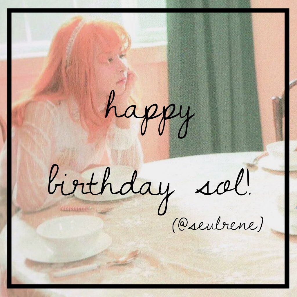 Wassup! It's me ya girl Mei! It's @seulrene's birthday! Happy birthday Sol! Love you my sis 💖💖 - @kaidrama
