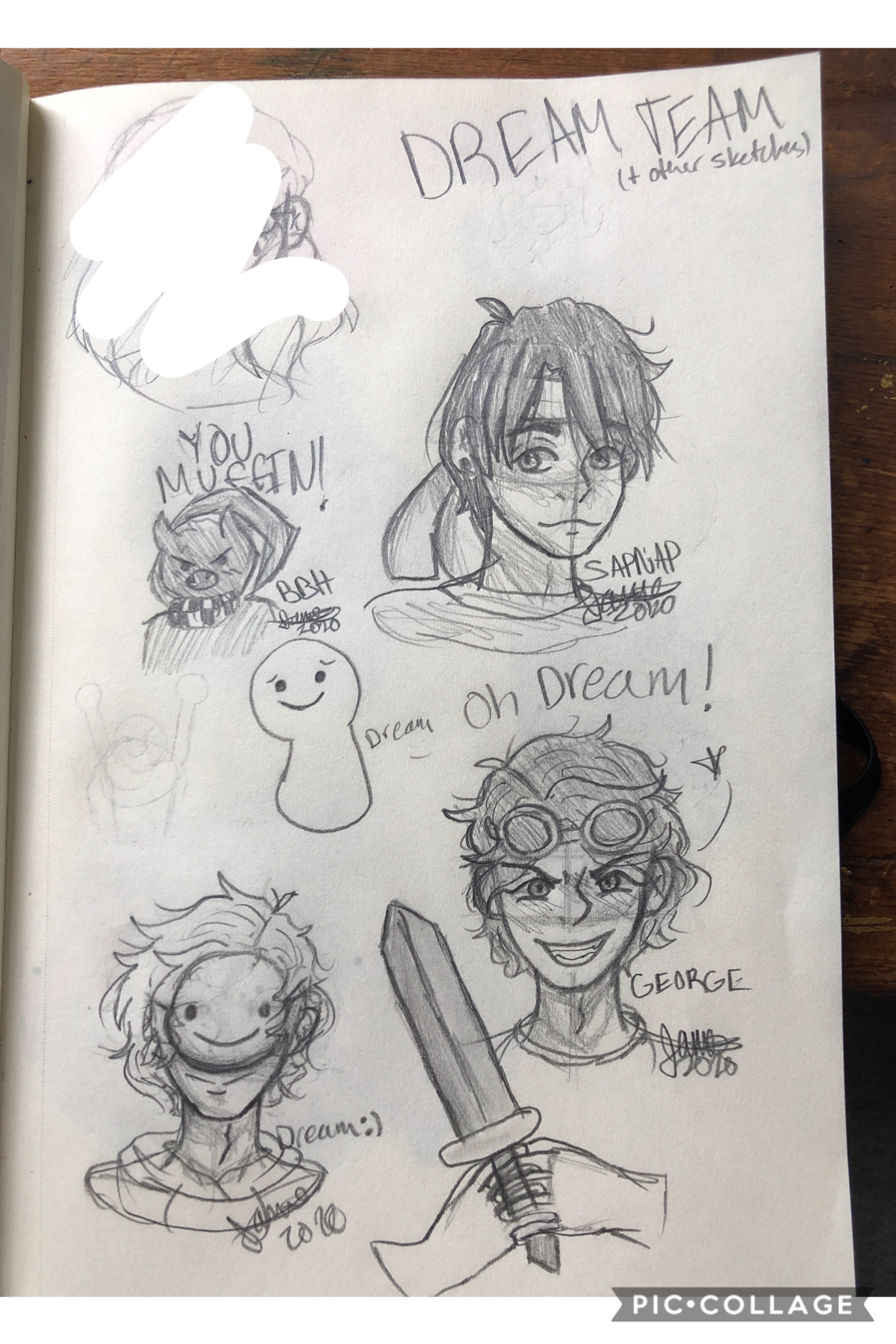 Oops i forgot to post this- anyways here are some dream team sketches 😂 I simp for all of them 😼