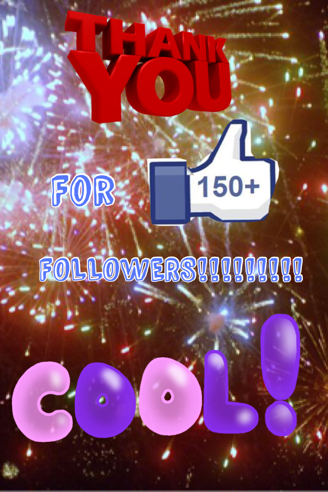 150+ followers CELABRATION!!
