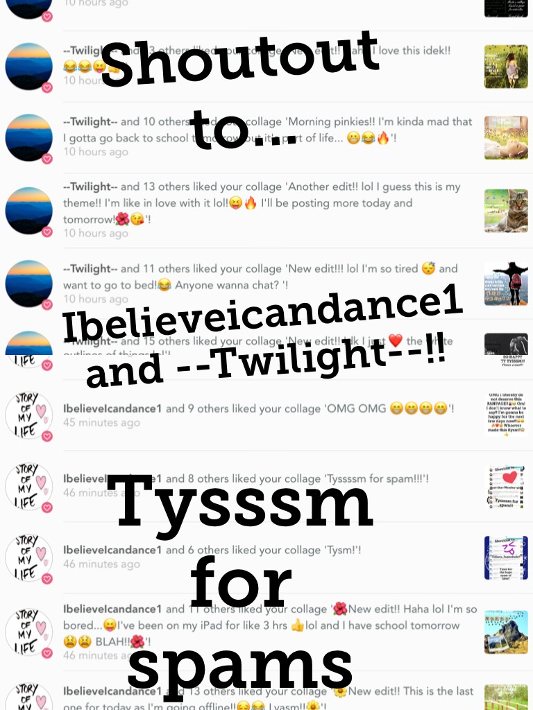 Tysssm for spams!!!
