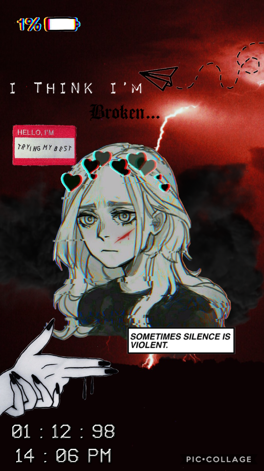 🖤Tap🖤  Idek wht this one is based off. Most likely on how I feel I guess