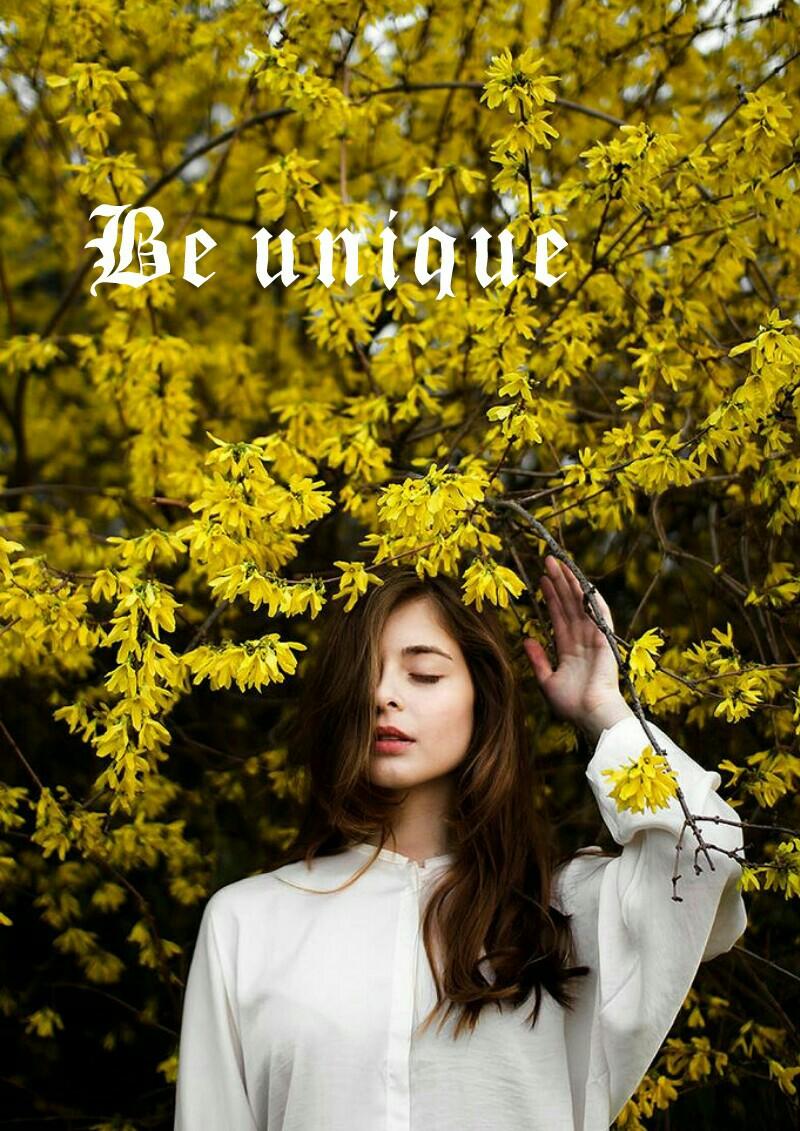 #beunique