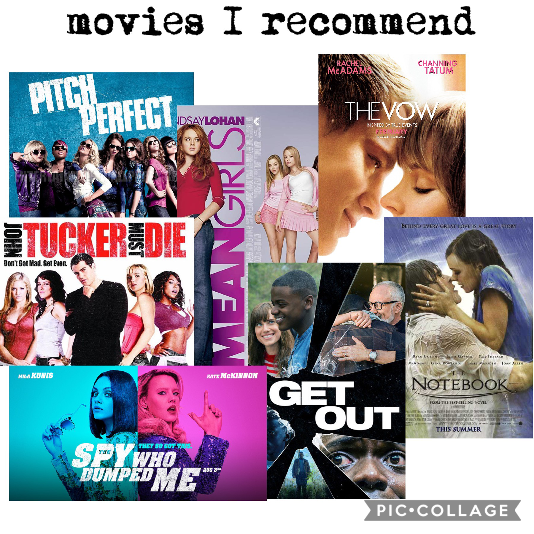 movies I recommend - I might do some Netflix recommendations later because I've seen like almost every movie Netflix has...