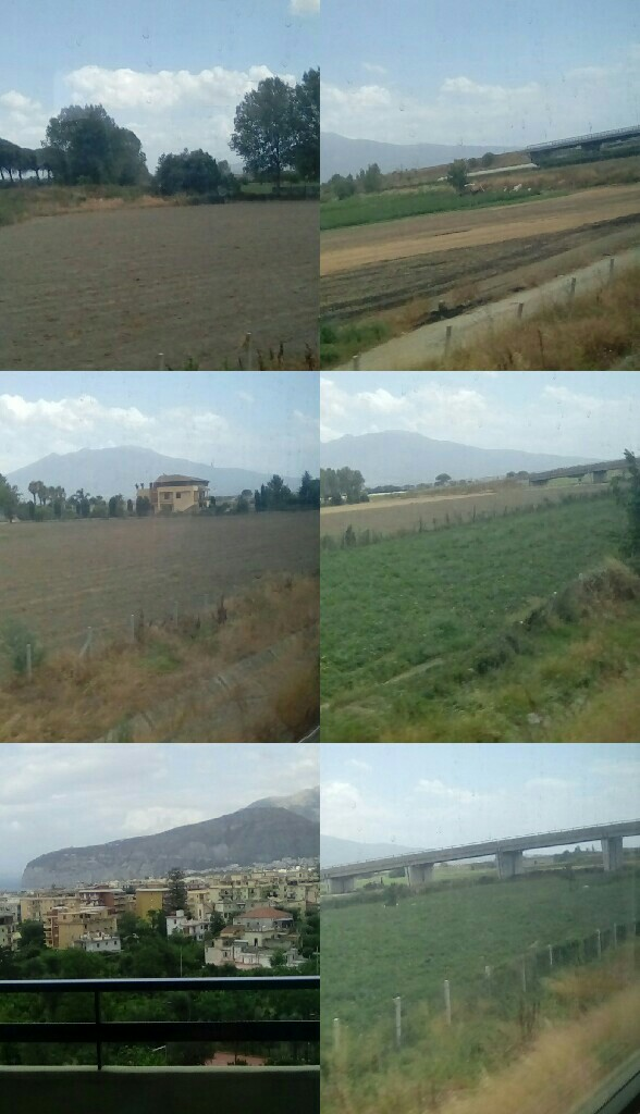 Train journey on my holiday in Italy