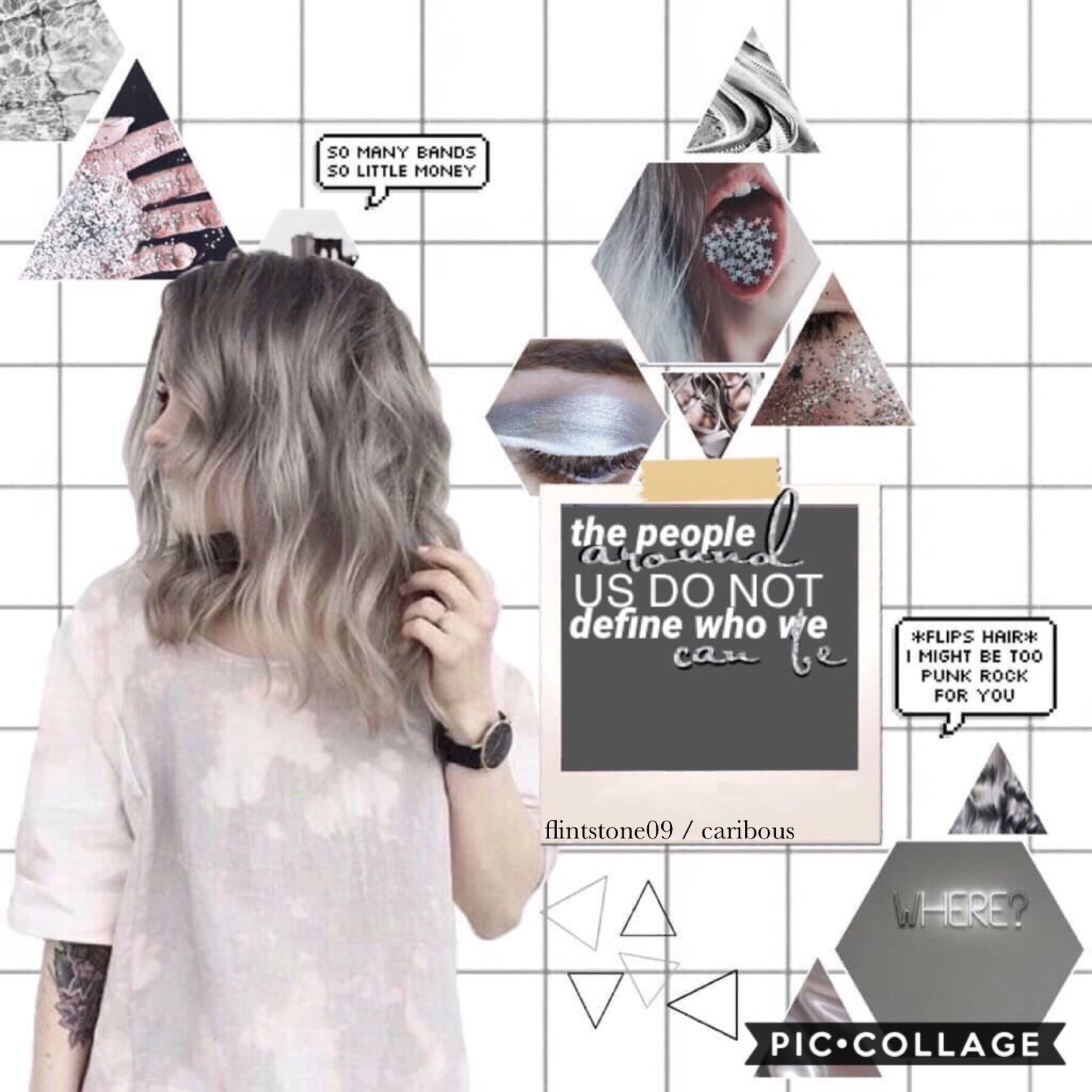 """8th post of theme. 👽TAP👽  Collab with———caribous!!🔥She is super good at text...as u can see😁 GO FOLLOW HER!! She was super sweet, even though I was being a noob at collabs😅 GRAY  no one does my question of the day anymore😭😂 QOTD: Do you spell """"gray"""" with"""