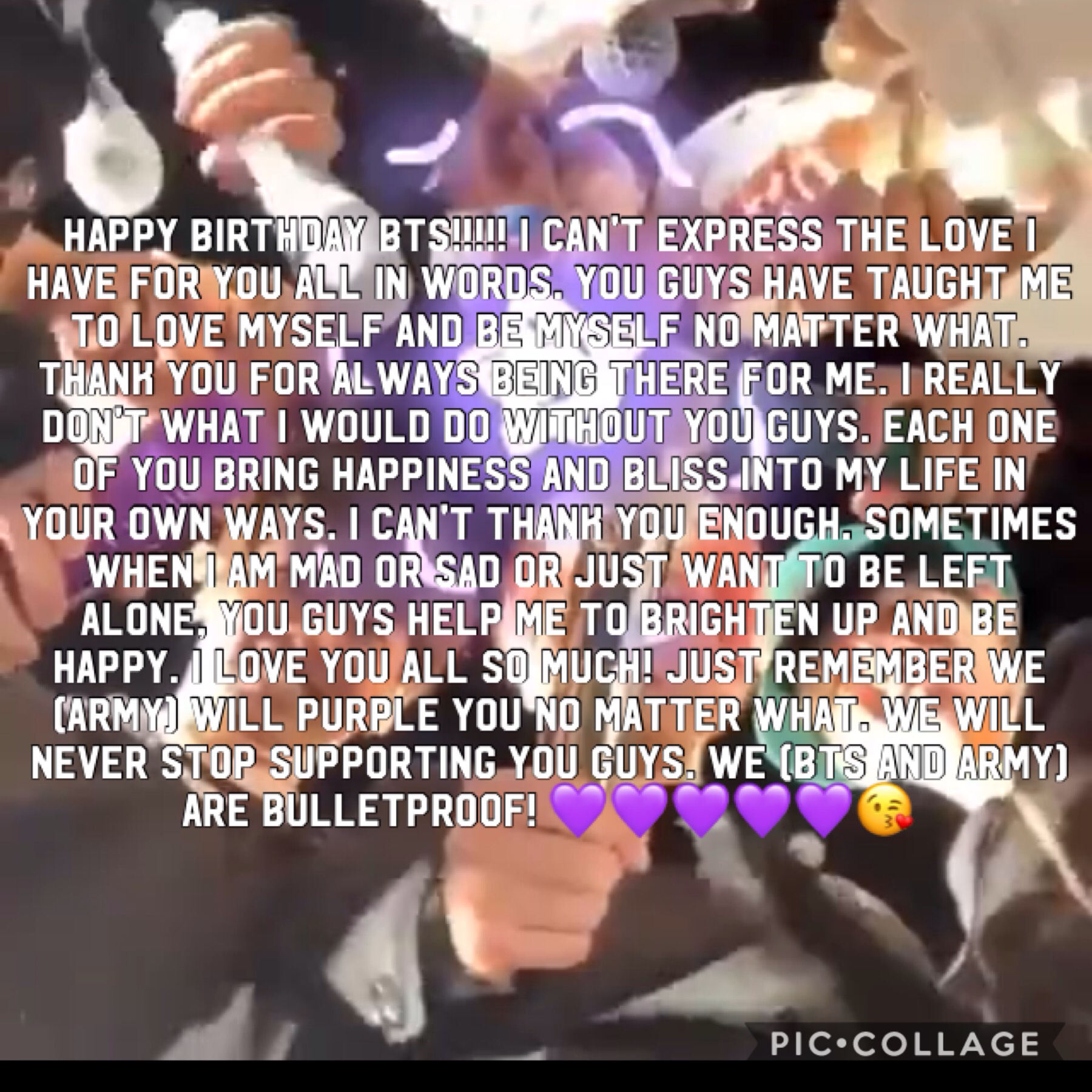 HAPPY BIRTHDAY BTS!! We purple you!!